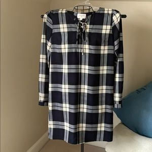 Navy and cream dress Size small